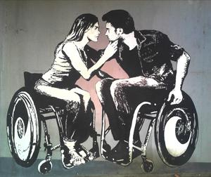 Matrimonio en silla de ruedas