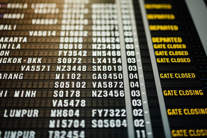 Horarios vuelos