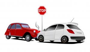 dibujo accidente de coche
